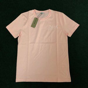 Christian Dior Men Oaj Pink Short Sleeve T-Shirt